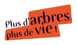 Logo de l'opération Plus d'arbres, plus de vie !