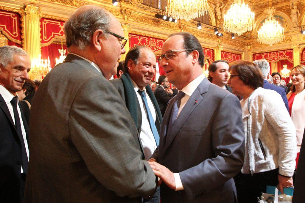 François Hollande et Cyril Le Picard à la suite de la 4eme Conférénce Environementale Photo : Présidence de la République/N.Bauer
